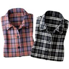 チェック柄かっぽうシャツ(色違い2枚組)