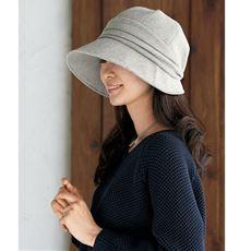 15機能で小顔に見える発熱蓄熱UVクロッシェ帽子