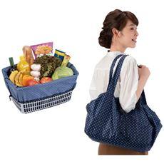 持ち運びに便利なレジカゴお買い物バッグ