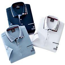 5分袖デザインポロシャツ(色違い3枚組)(ダンロップ・モータースポーツ)