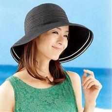 涼感小さくたためるつば広帽子