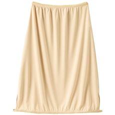 サッと裾上げサラスラ汗取りペチコート(スカート)