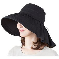 UVケープ付帽子 ~襟足美人~