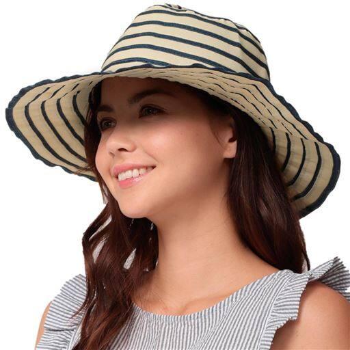 折りたためるUVエレガント帽子2色組