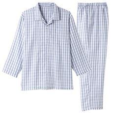 ガーゼメンズシャツパジャマ