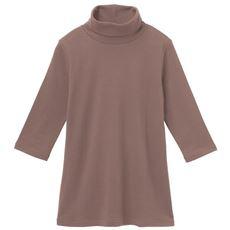 UVカットルーズネックTシャツ(七分袖)(綿100%・2丈展開・S~5L・洗濯機OK)