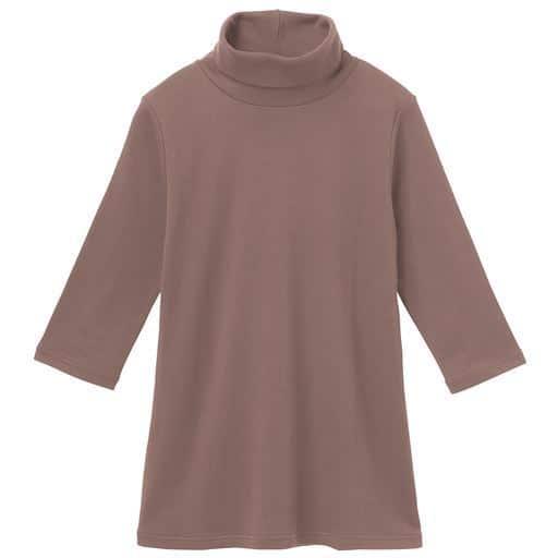 UVカットルーズネックTシャツ(七分袖)(綿100%・2丈展開・S~5L)