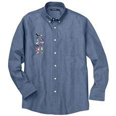 綿100%ツイル刺繍使いシャツ