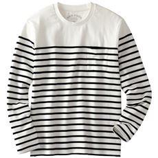 感動の肌触り・やわらかオーガニックコットンTシャツ(長袖)