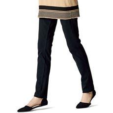 ニットデニムプルオンスリムパンツ(スマートニットジーンズ)(美脚パンツ・選べる2レングス・洗濯機OK)