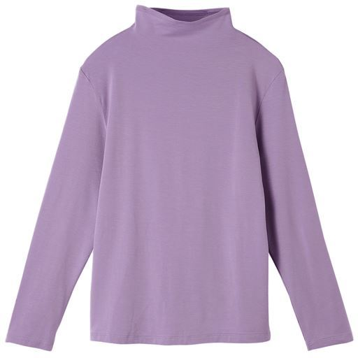 テンセル™繊維混ボトルネックTシャツ(日本製・S~4L)
