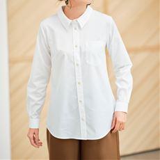 【ぽっちゃりさんサイズ】形態安定シャツ(長袖)(UVカット・抗菌防臭) グラマー用サイズ有(胸のサイズで選べる)