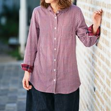 【ぽっちゃりさんサイズ】ダブルガーゼデザインシャツ