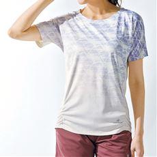 裾シャーリングTシャツ(BODY GLOVE)(吸汗速乾・UVカット)