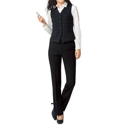 ベストスーツ(事務服・ストレッチ素材・洗濯機OK・撥水・形態安定・防汚加工・選べる2レングス)