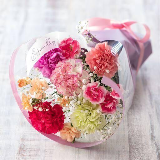 【母の日】花束「なないろカーネーション」
