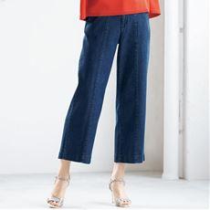 丈が選べるテンセル™繊維混ソフトワイドジーンズ(選べる3レングス)