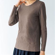 綿100%スラブ素材の長袖カットソー