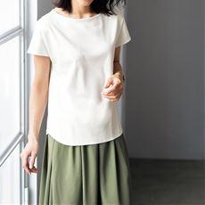 美シルエット®/Be-silhouette®ボートネックTシャツ(綿100%)