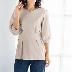 美シルエット®/Be-silhouette®タック使いTシャツ(綿100%)