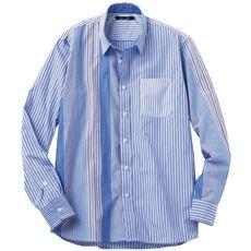 ドライ・ストライプ切替デザインシャツ(長袖)