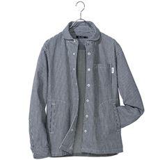 ストレッチ素材シャツジャケット