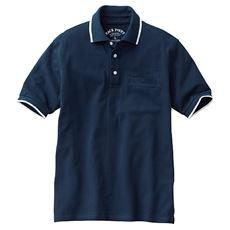 ドライ・綿100%ポロシャツ(半袖) スマホ入れ対応ポケット付き