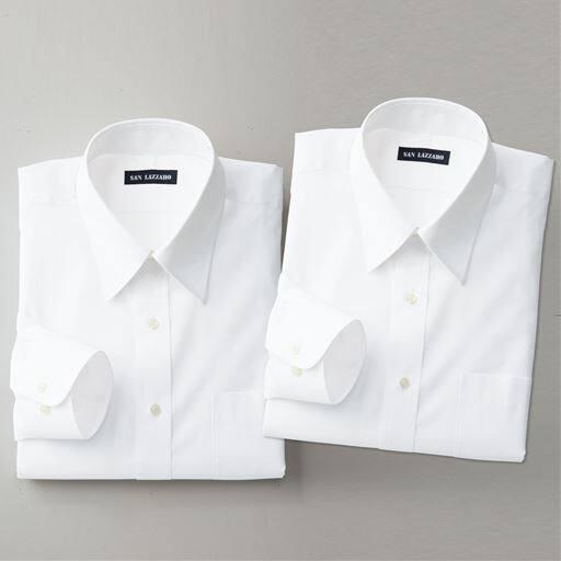 出張や洗い替えに最適な形態安定Yシャツ2枚組(長袖)(S~5L)