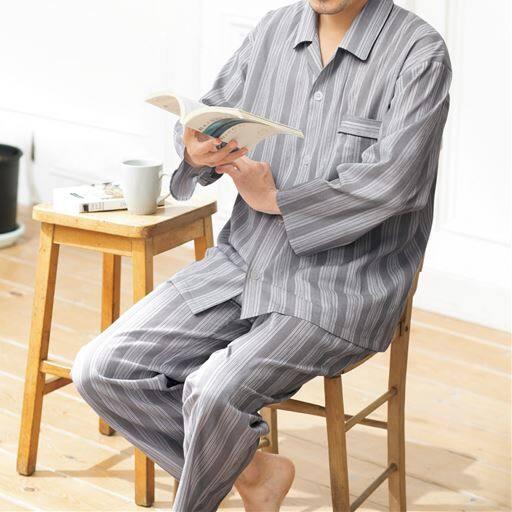 日本製綿100%紳士パジャマ