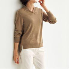 テンセル™繊維・シルク混ニットプルオーバー