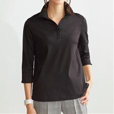 衿付き7分袖Tシャツ(綿100%)