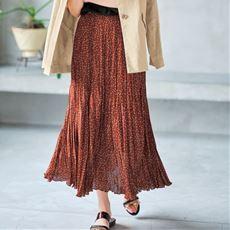 【ぽっちゃりさんサイズ】ランダムプリーツフレアスカート