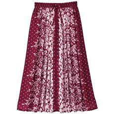 【ぽっちゃりさんサイズ】パネル柄スカート