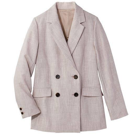 【ぽっちゃりさんサイズ】ダブルテーラードジャケット(トールサイズ)