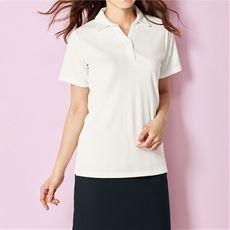 透けにくい衿付きプルオーバー(半袖)(洗濯機OK)
