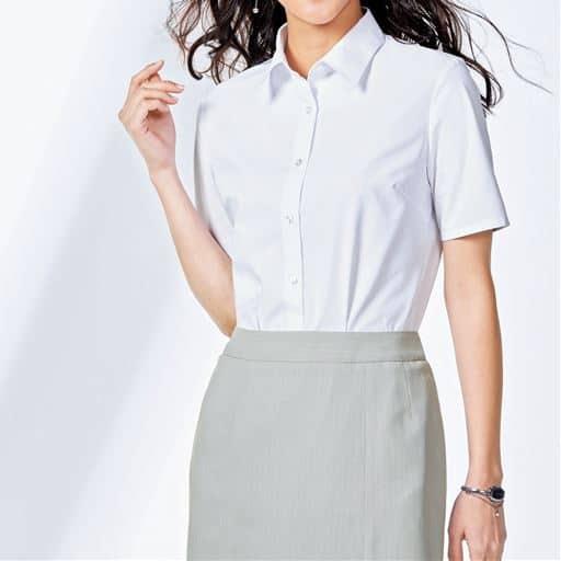 形態安定レギュラーカラーシャツ(半袖)(UVカット 抗菌防臭)