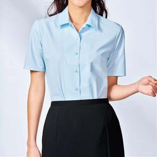 形態安定ハマカラーシャツ(半袖)(UVカット 抗菌防臭)