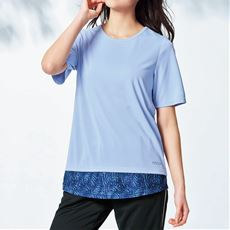 フェイクレイヤードチュニックTシャツ(kaepa)(吸汗速乾・UVカット)