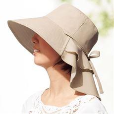 首筋涼感エレガント遮熱帽子