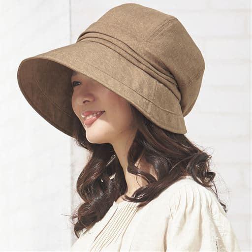 21機能で小顔に見える遮熱遮光UVクロッシェ帽子