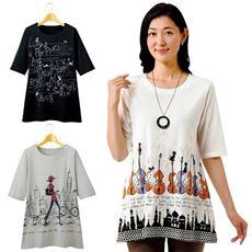 綿100%プリントTシャツ(色柄違い3枚組)