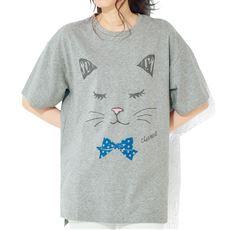 ゆるっとらくちん♪5分袖ボックスロングTシャツ