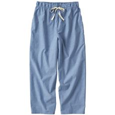 さらりと気持ちいい夏のコットン100%パンツ(8分丈)