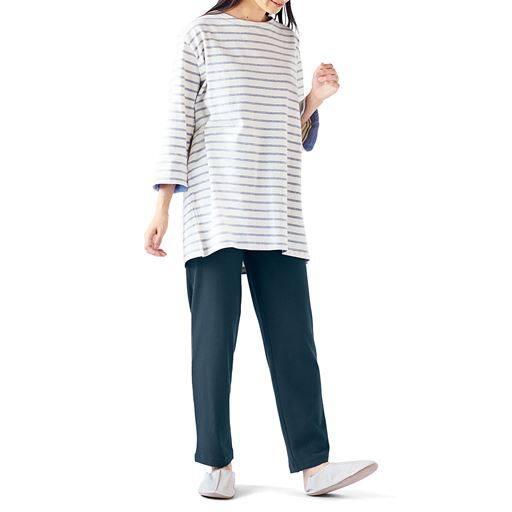 適度なゆとりで人気の綿100%長パンツ<br>(無地・ルームパンツ)
