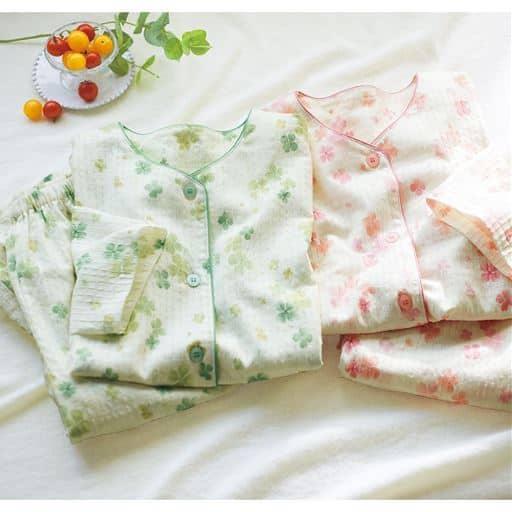 空羽楊柳のVネックパジャマ(綿100%・日本製)