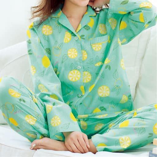 冷房対策にも!爽やかシャツパジャマ(綿100%)