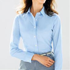 形態安定2枚組レギュラーカラーシャツ(長袖)(洗濯機OK・S~3L)