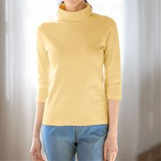 UVカットルーズネックTシャツ(7分袖)(綿100%・2丈展開・洗濯機OK)