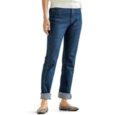 はき心地が選べるストレートジーンズ(選べる4レングス・洗濯機OK)