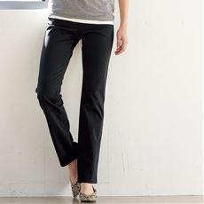 ニットデニムストレートパンツ(スマートニットジーンズ)(選べるレングス・吸汗速乾・洗濯機OK)